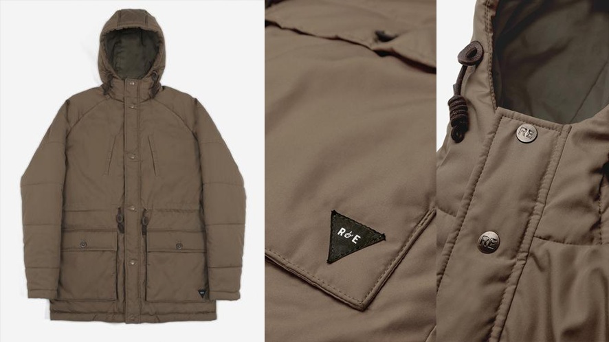 Men's Thermal Puffer Jacket (Dark Sand) | Realm & Empire