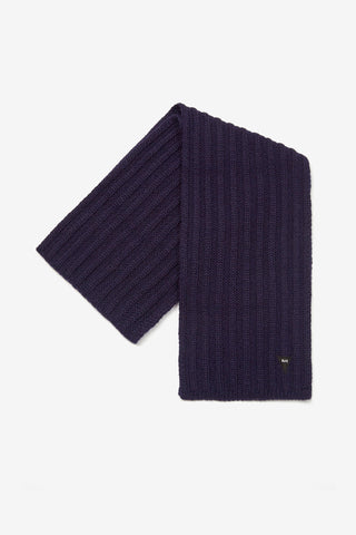 British Wool Chunky Rib Scarf | Made in England British Knits | Realm & Empire British Menswear