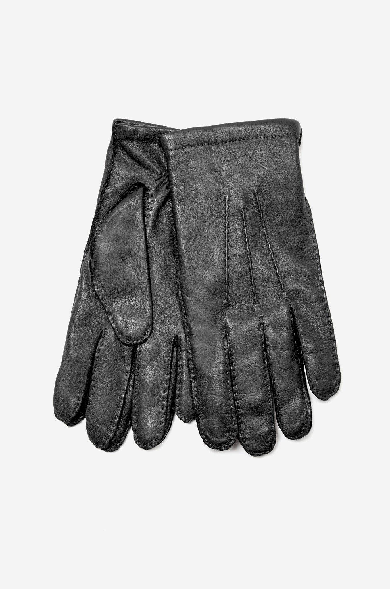 Mens leather gloves grey - Men S Leather Gloves With Cashmere Lining Realm Empire British Menswear