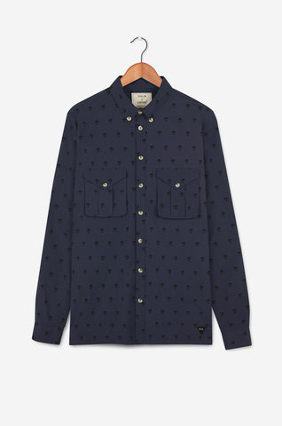 Parachute Motif LS Shirt | Navy (RE0354)