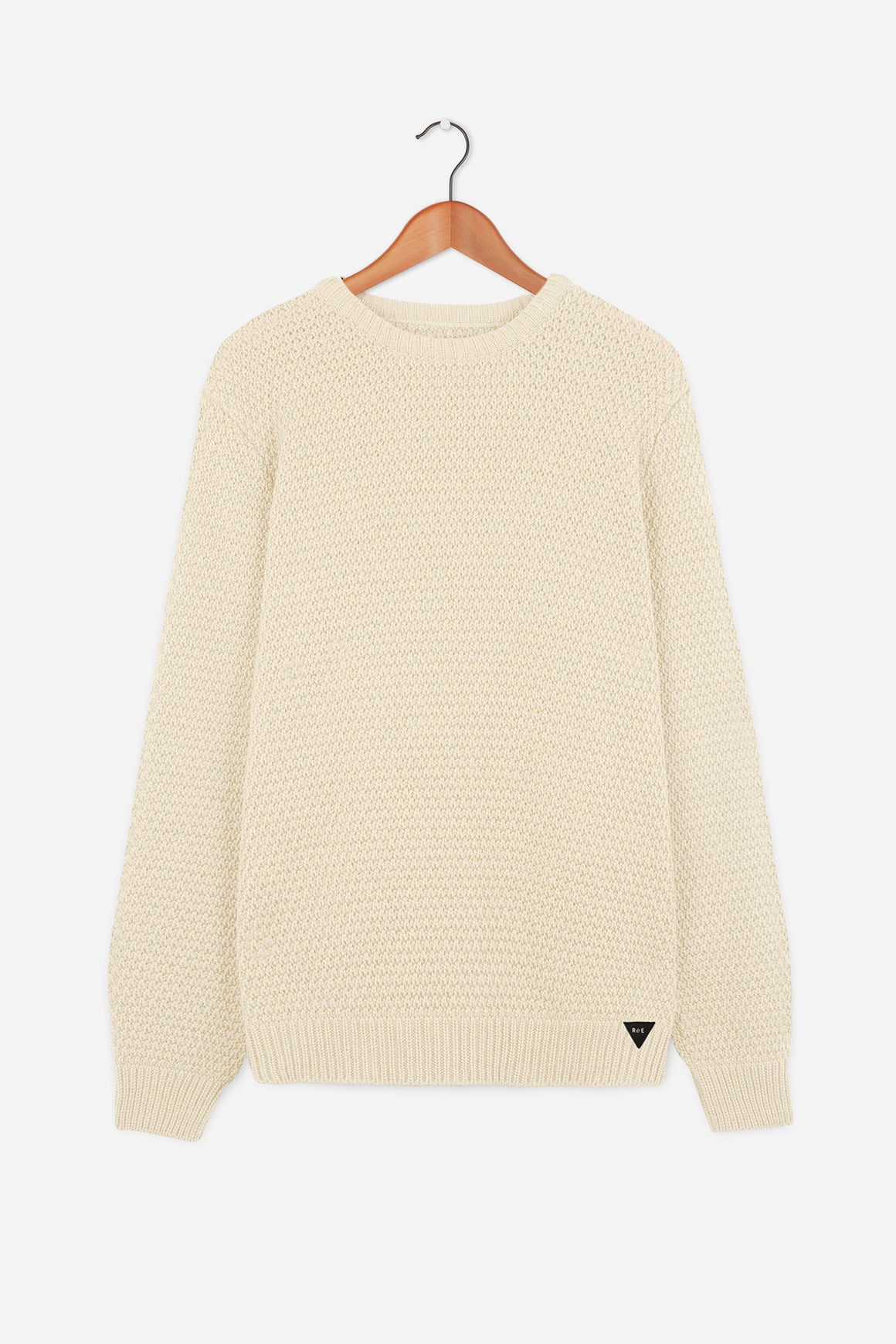 Men's Cream British Wool  Moss-Stitch Jumper | Made in England | Classic Cardigan | Realm & Empire