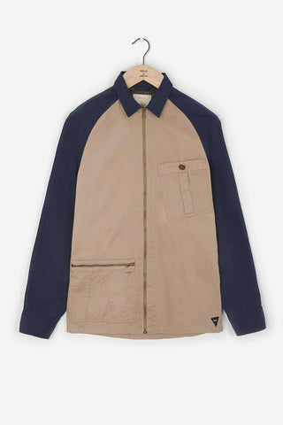 Realm & Empire Ghost Patrol Zip-Thru Jacket | Stone / Navy