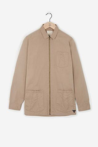 Realm & Empire Zip Thru Workwear Jacket | Stone