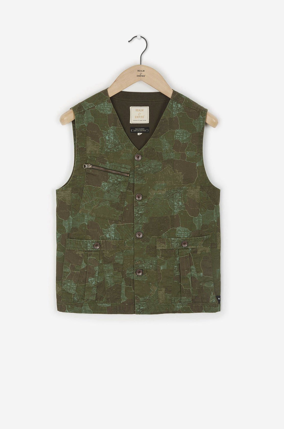 A13 Utility Waistcoat | Camo Green - Issue #RE0374