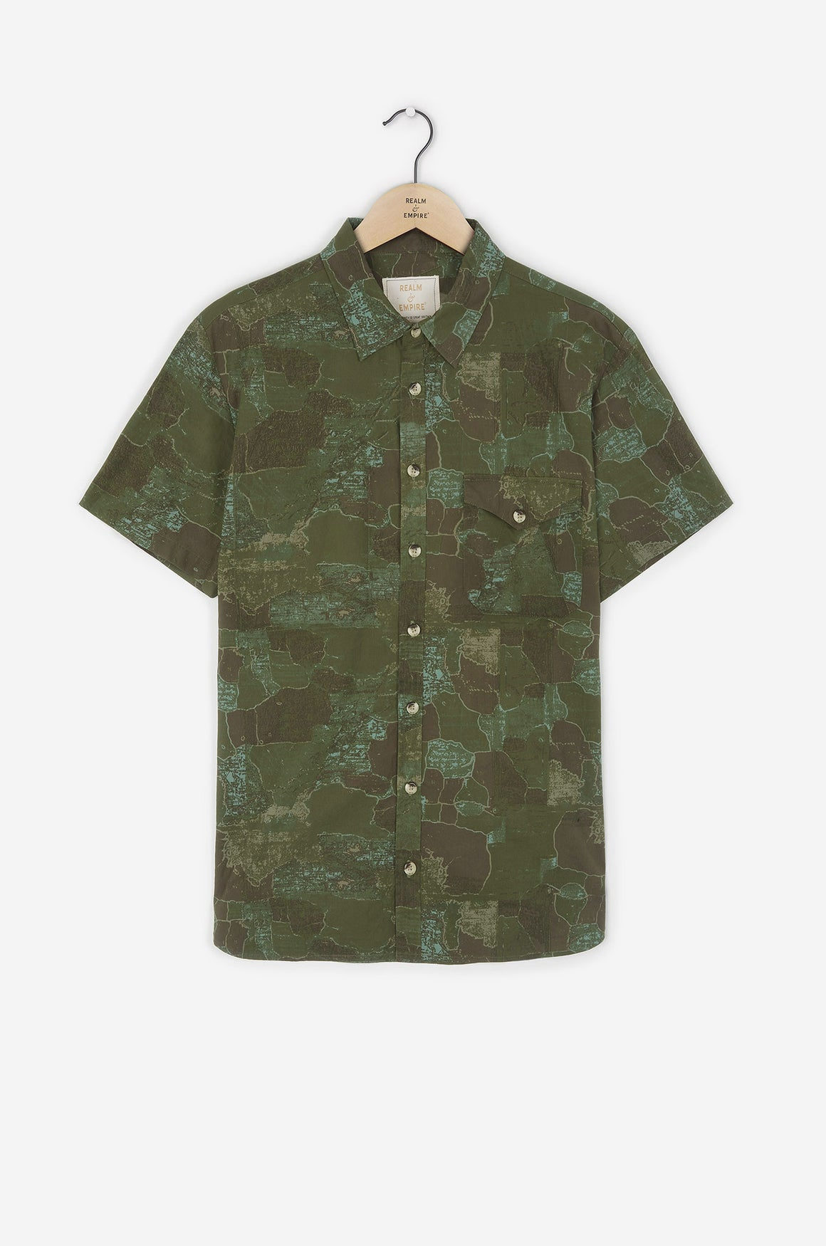 Realm & Empire Short Sleeve Archive Shirt | Camo