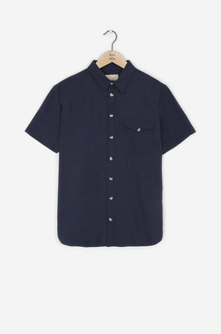Realm & Empire Short Sleeve Archive Shirt | Navy