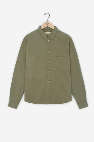 Realm & Empire Long Sleeve Patched Shirt | Lichen