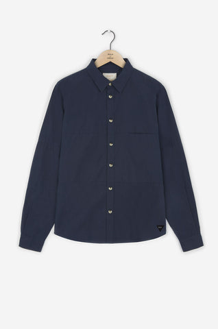 Realm & Empire Long Sleeve Patched Shirt | Navy