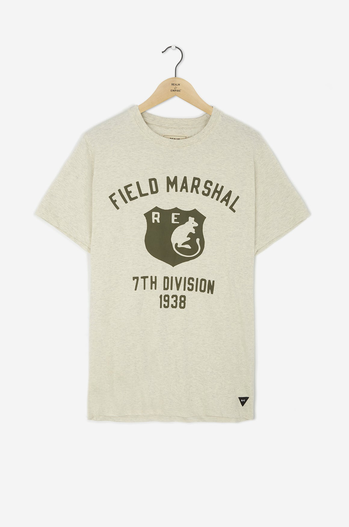 Realm & Empire Field Marshal Tee | Ecru Marl