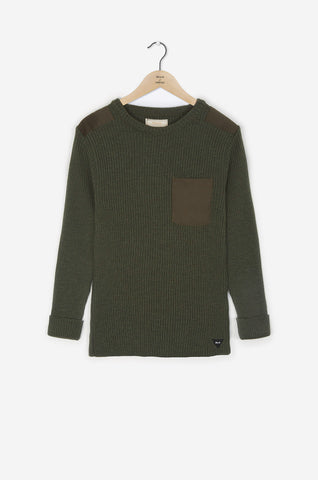 Realm & Empire Made in UK Wool Military Crew | Olive