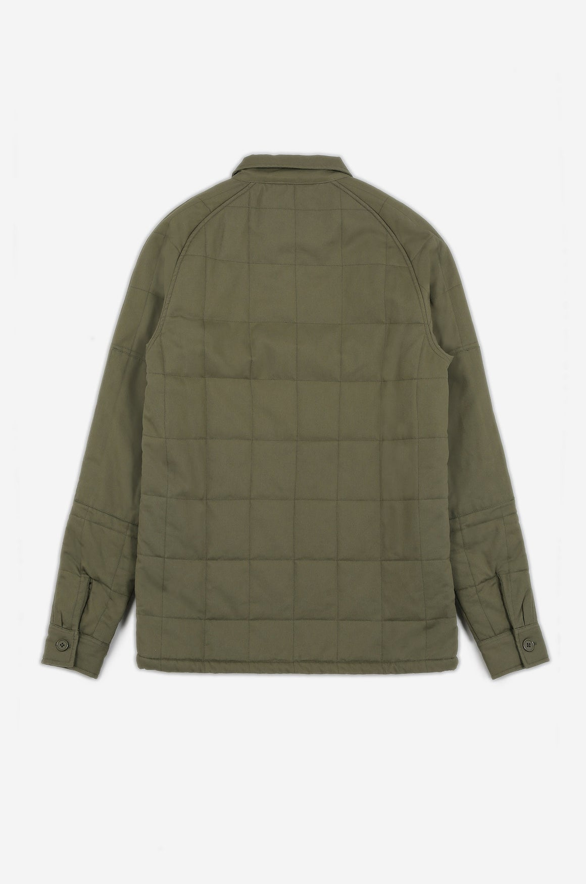 Men's Quilted Frogman Overshirt (Lichen) | Realm & Empire