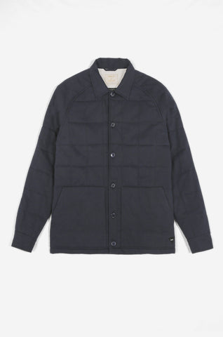 Men's Quilted Frogman Overshirt (Navy) | Realm & Empire