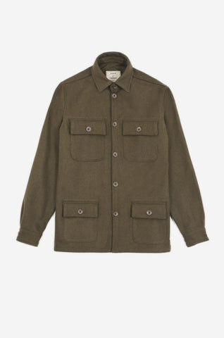 Men's Long Sleeve Military Deck Shirt (Olive) | Realm & Empire