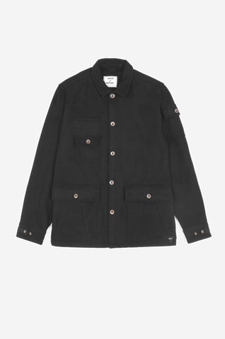 Men's Wool Donkey Jacket (Black) | Realm & Empire