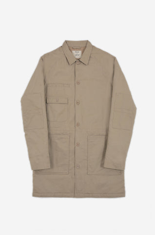 Men's Torpedoman's Quilted Deck Jacket (Stone) | Realm & Empire