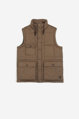 Men's Thermal Puffa Gilet (Dark Sand) | Realm & Empire