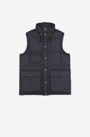 Men's Thermal Puffa Gilet (Navy) | Realm & Empire
