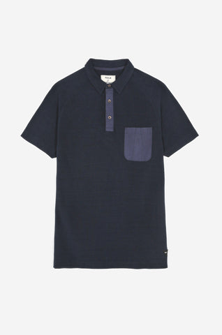 100% Cotton Pique Men's Polo Shirt (Indigo) | Realm & Empire