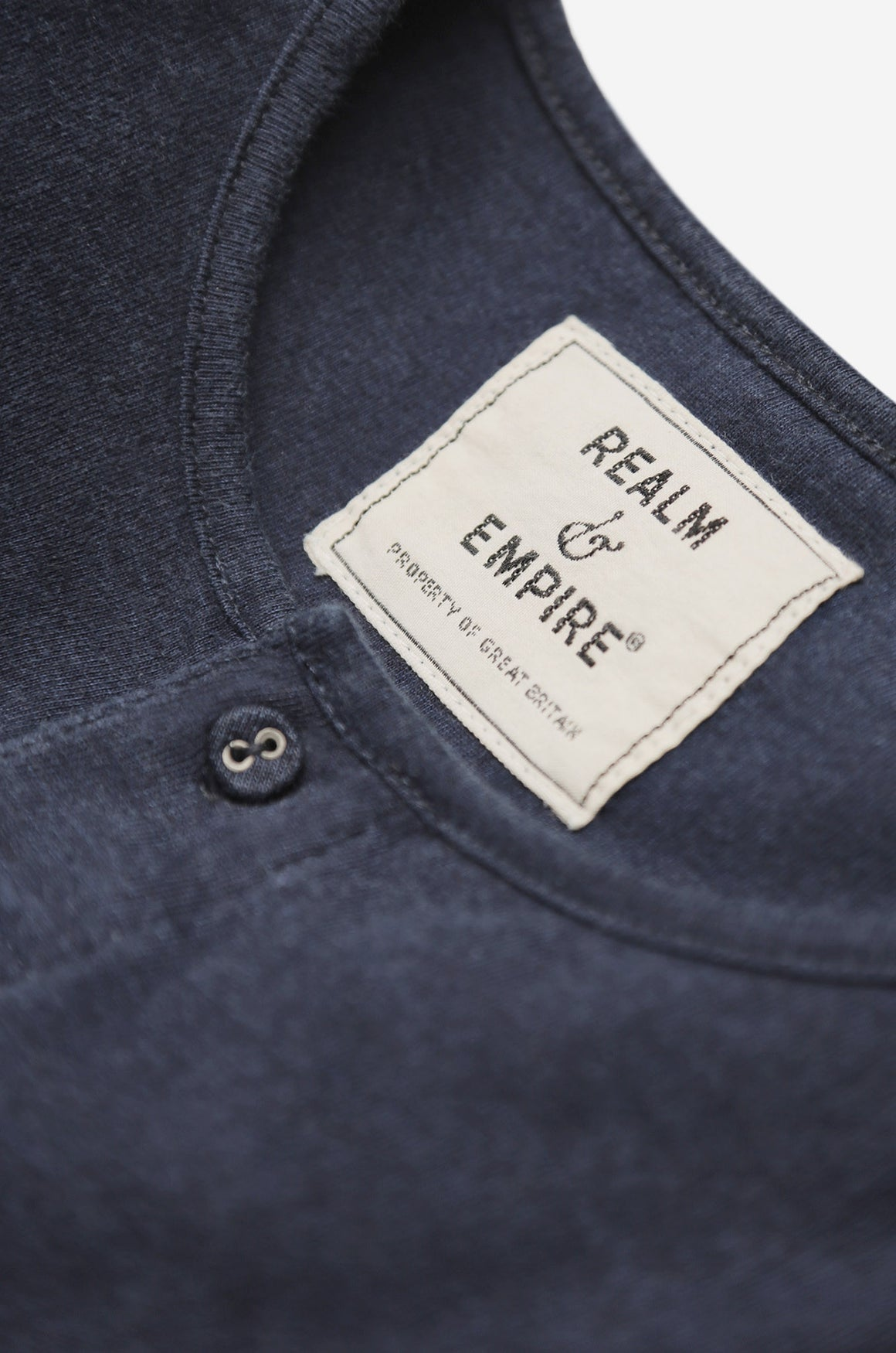 Men's Short Sleeve Button Tee (Navy) | Realm & Empire
