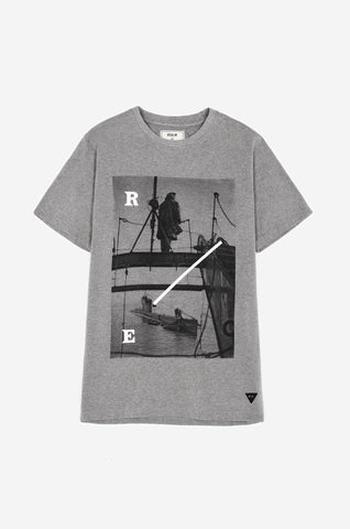 Men's Boom Defence Tee (Grey Marl) | Realm & Empire
