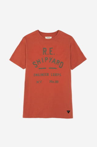 Men's Shipyard Tee (Ochre) | Realm & Empire