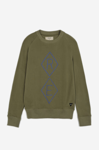 Men's Recruiter Crew Neck Sweater (Green) | Realm & Empire