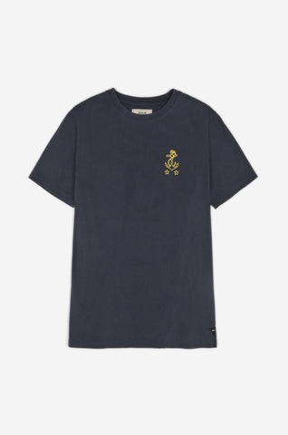 Men's Naval Supply Back Print Tee (Navy) | Realm & Empire