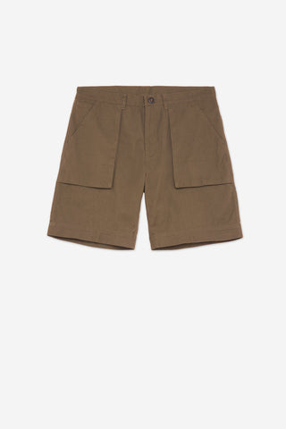 Men's Regular Fit Deck Work Short in Brown