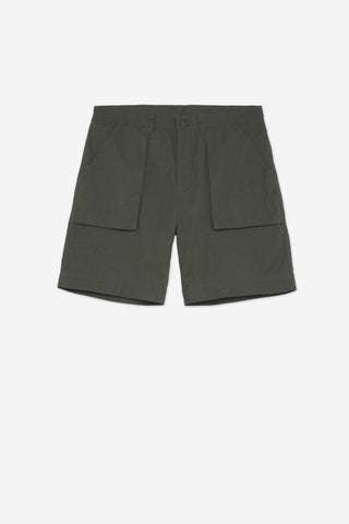 Men's Regular Fit Deck Work Short in Green