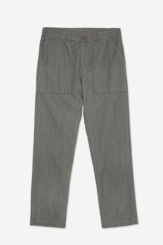Men's Regular Fit Cotton Twill Workwear Trousers in Green