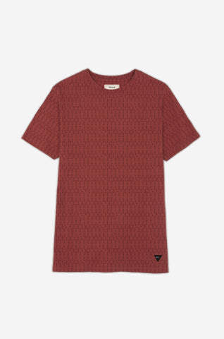 Men's Decoded Code Print Tee | Rustic Red