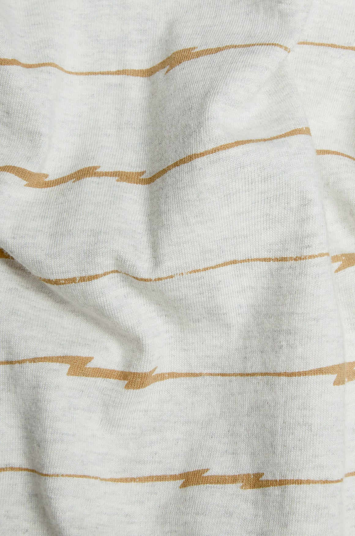 Men's Down The Wire Graphic Stripe Tee | Ecru Marl
