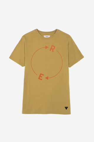 Men's Enigma Cipher Tee | Ochre Yellow
