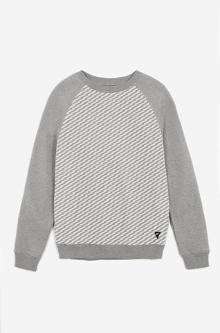 Men's Transmitted Tonal Pattern Sweatshirt | Grey Marl