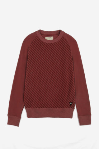 Men's Transmitted Tonal Pattern Sweatshirt | Rustic Red