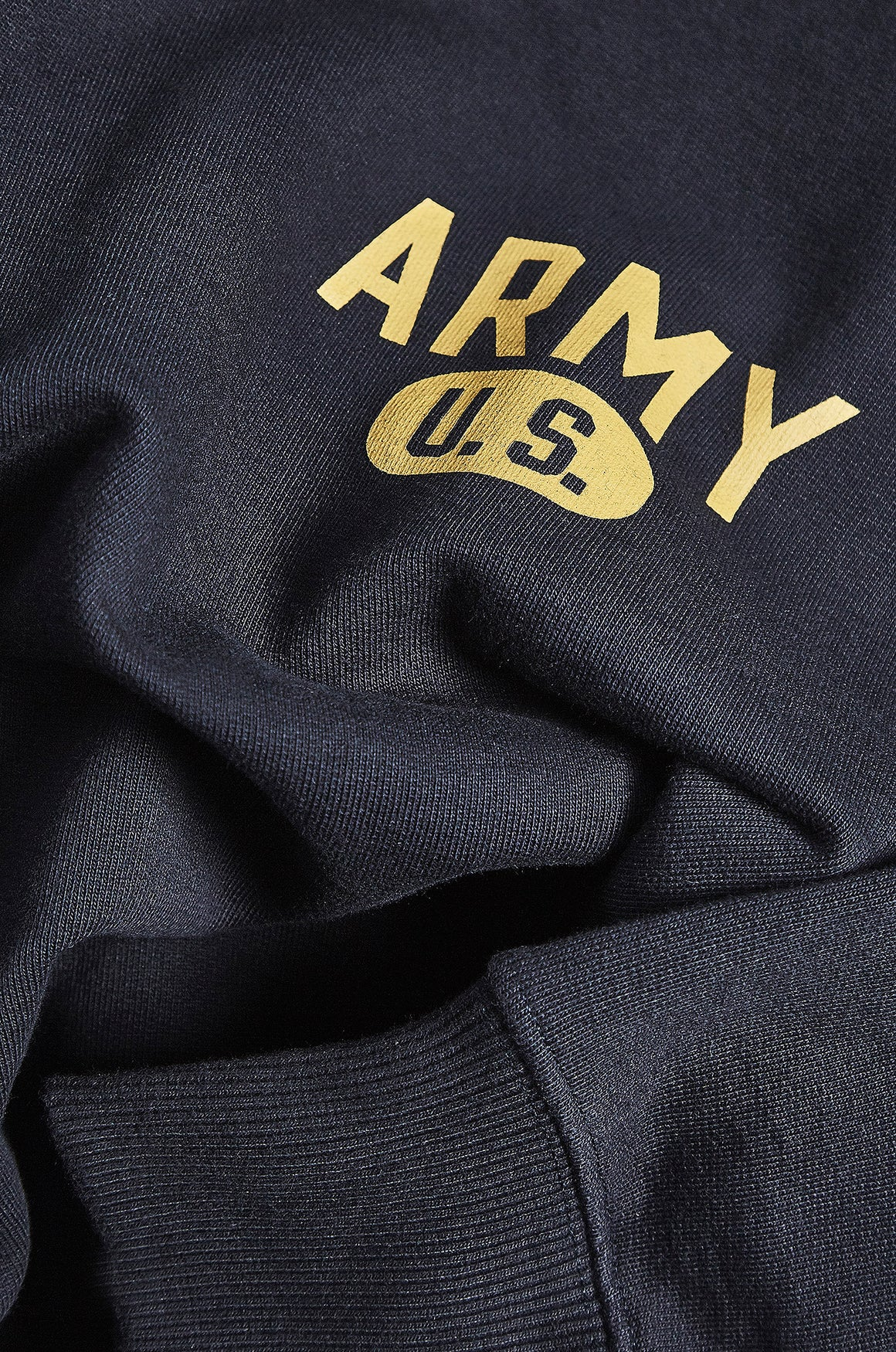 Men's Navy Raglan Sweatshirt with Yellow WW2 Army US Motif by Realm Empire