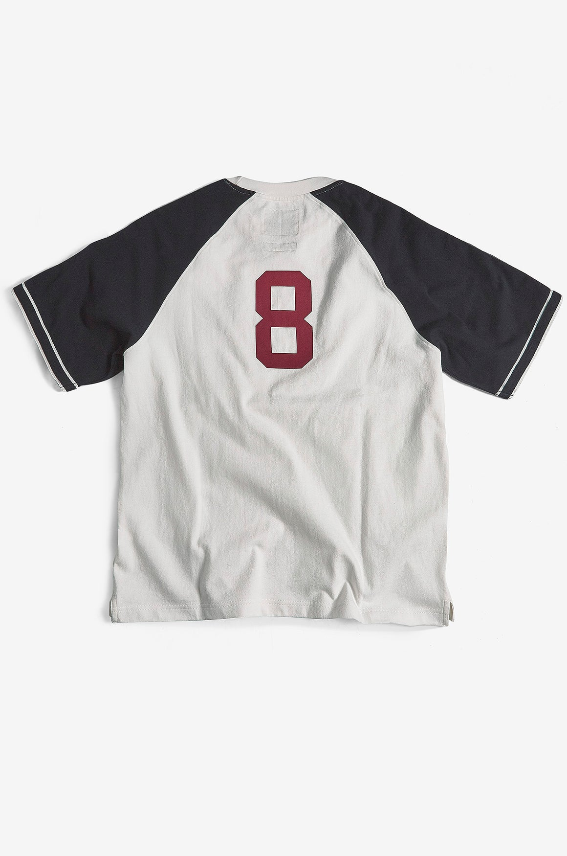 Vintage Baseball Style Heavy Jersey T-Shirt in Navy / Red by Realm Empire