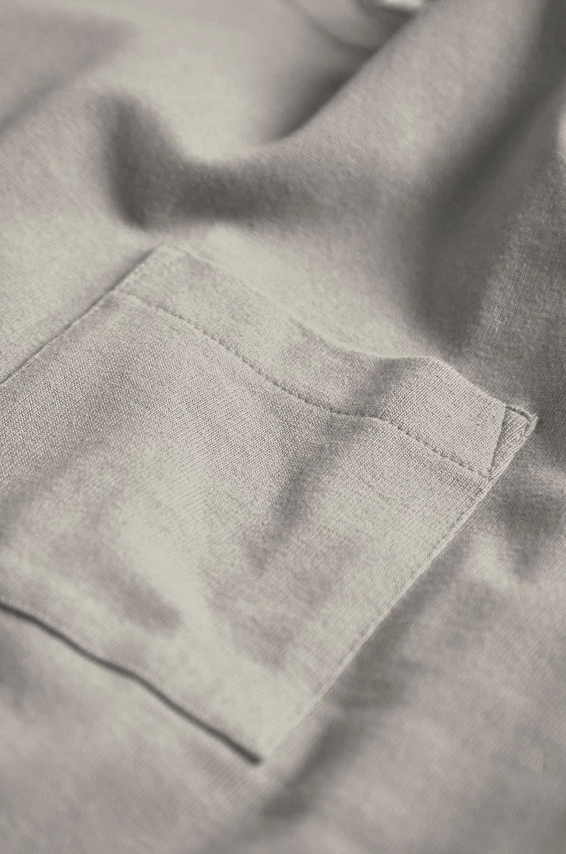 Arnold Pocket Tee | Grey Marl | Realm & Empire Front