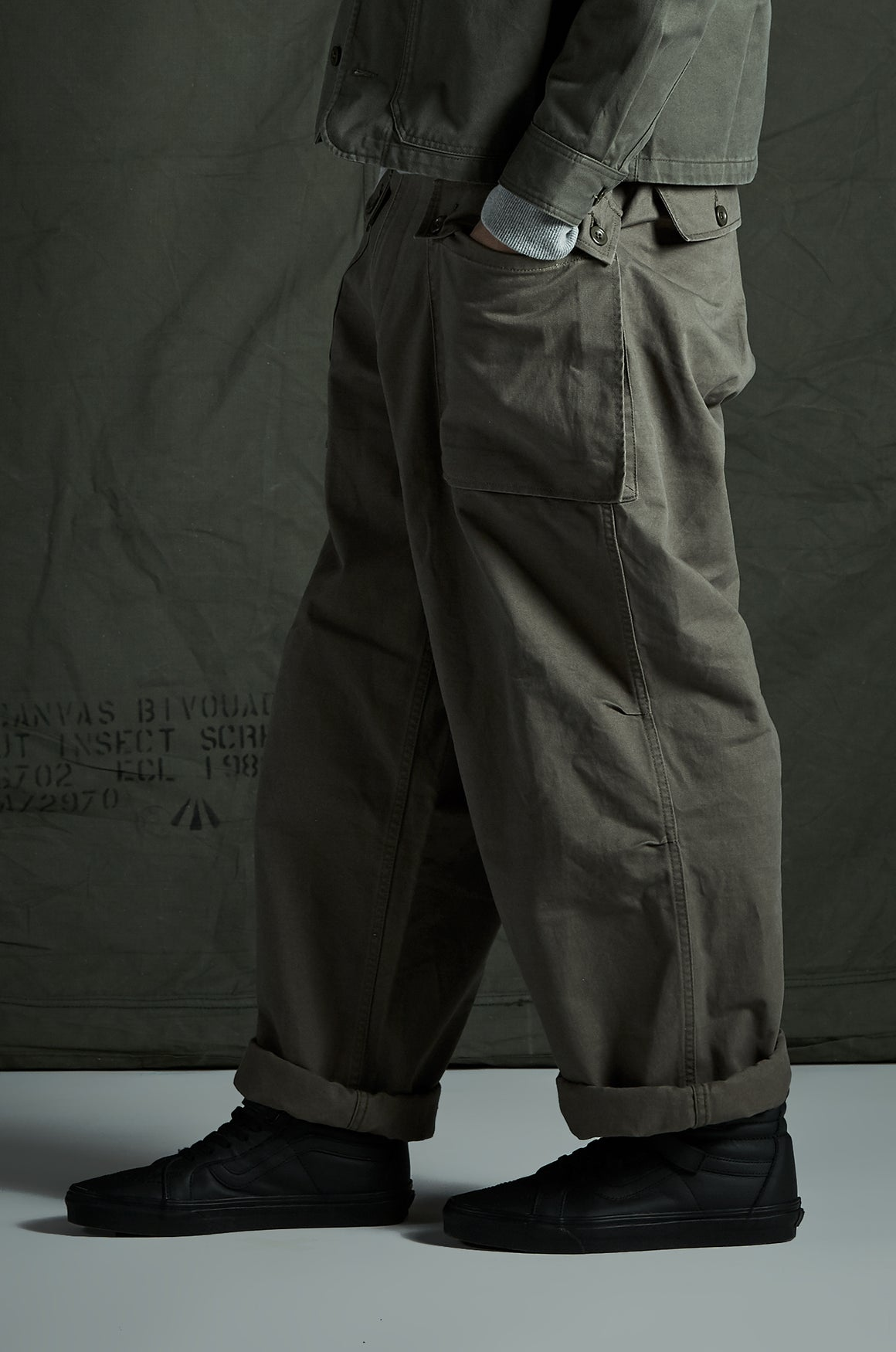 USMC Utility Pant | Green - issue #RE0498 |  Vintage Workwear Style - Front