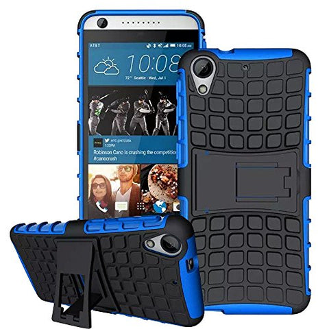 HTC Desire 650 Shockproof Covers  (Blue, B2)