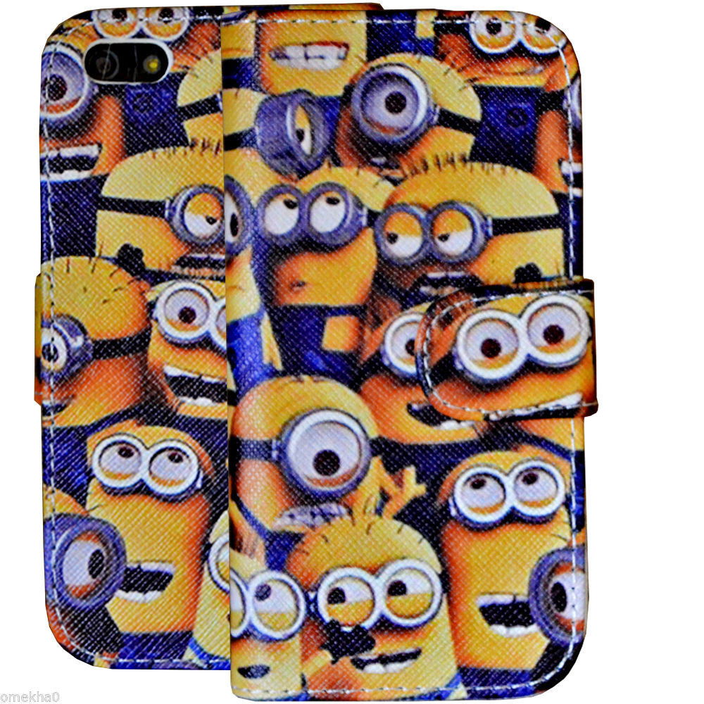 iPhone 5 & 5s & SE Despicable Me Minion Wallet Flip Case