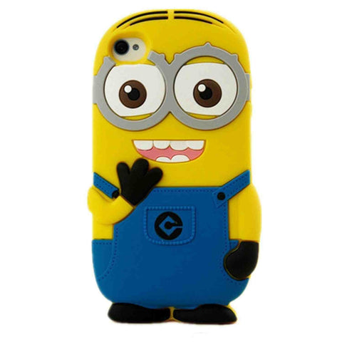iPhone 5 & 5s & SE Despicable Me Minion 3D Soft Silicone Cover