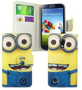 Samsung Galaxy S4 Despicable Me Minion Wallet Flip Case