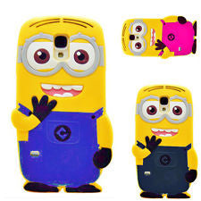 Samsung Galaxy S4 Despicable Me Minion 3D Soft Silicone Cover