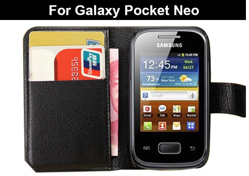 Samsung Galaxy Pocket Neo Flip Wallet Cases