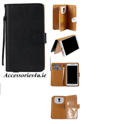 iPhone 5 & 5s & SE Flip Wallet Card Stand PU Leather Case