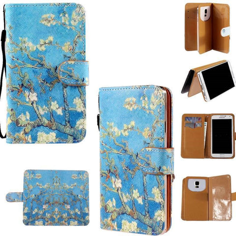 Samsung Galaxy S4 Flip Wallet Card Stand PU Leather Case