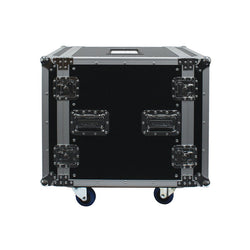 "12u Flight Rack Case 19"" On Locking Wheels Chrome Plated Steel Hardware Plywood Sides & Lids (1)"