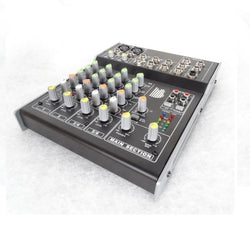 BishopSound 6 Channel Mixer For Live, Recorded Music, Touring, Studio or Live Streaming (1)
