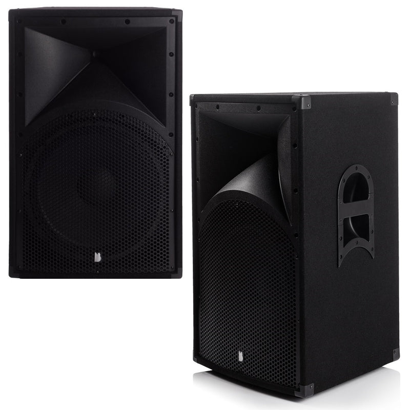 "Party Pack Two - 2 x Alpha 15"" 1600w Peak PA Speakers With Amplifier, Cables And Stands"